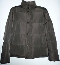 Saks Fifth Avenu Black Brown Winter 80% Duck Down Coat Mens Jacket Size XL $290