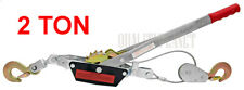 2 Ton Hand Puller Come Along Cable Hoist 2 Hooks Come Along New Free Shipping