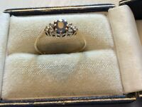 Beautiful Ladies Full Hallmarked Vintage 9CT Gold Sapphire & Diamond Ring - O