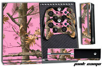 Designer Skin for XBOX ONE 1 Gaming Console+2 Controller Sticker Decal PINK CAMO