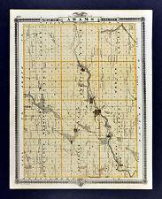 1875 Iowa Map - Adams & Union County - Corning Afton Creston Queen City Prescott