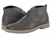 Calvin Klein Men's Shoes Walter Leather Ankle Boots Lace Up Steel Color F0663