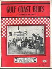 Gulf Coast Blues 1923 by Clarence Williams A J Piron on cover Sheet Music