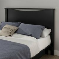 South Shore Gramercy Full Queen Panel Headboard in Pure Black