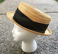 Vintage Knox New York Fedora Straw Hat Size 7 1/8 Mosier's Mens Shop New Albany
