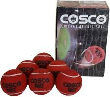 Cosco Cricket Plus Light Weight Cricket Ball ,Size:Standard (Pack 3, red )