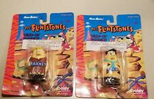 Vtg FLINTSTONES BARNEY RUBBLE AND FRED FLINTSTONE WIND UP TOYS 1994 NIP