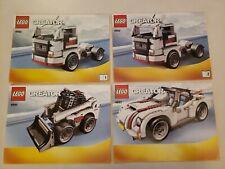 Lego Creator 4993 Instruction Manual Only Cool Convertible Semi Truck Mini Load