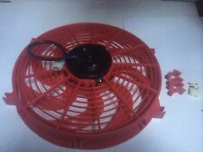 14 INCH 12v RED LOW PROFILE HIGH PERFORMANCE THERMO FAN 12volt