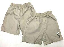 2 Boys Performance Khaki Shorts Size 5 - For Dress and Swim Shorts Elastic Band