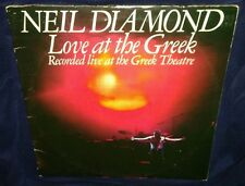 Neil Diamond, Love at the Greek, 2X's VINYL 1977 LP (VG+ play tested)