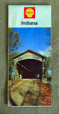 1967 Shell Road Map of Indiana Free Shipping