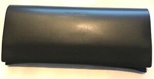 WOW! New Saint Laurent black leather logo sunglass case