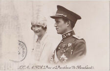 RPPC,Belgium,Duke & Duchess of Brabant,(King Leopold III),Used,No Stamp,1933