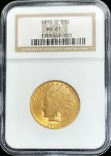 1914 D GOLD $10 DOLLAR INDIAN HEAD EAGLE COIN NGC MINT STATE 61