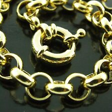 FS412 GENUINE 18K YELLOW GF GOLD SOLID CLASSIC BELCHER BOLT RING BRACELET BANGLE