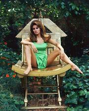 RAQUEL WELCH SITTING LEGS APART 8X10 COLOR PHOTO