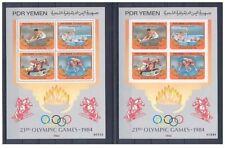 YÉMEN SUD 1984 Jeux Olympiques d'été Los Angeles 1984