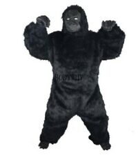 Fursuit Black Gorilla Mascot Costume Suits Cosplay Party Dress Outfits Carnival