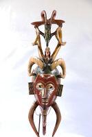 AC8 Guro / Baule Maske alt Afrika * Masque Gouro ancien * Old tribal mask Africa