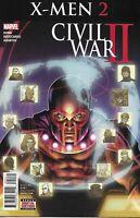 Civil War X-Men Comic 2 Cover A David Yardin First Print 2016 Bunn Broccardo .
