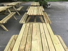 3 x Wooden Picnic bench sets pubs,clubs,dining,Strong and super smooth