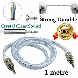1m Strong AUX IN Auxiliary extension cable stereo audio car Blackberry Huawei