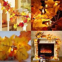 LED Maple Leaves Fairy Light Autumn String Lights Fall Wedding Xmas Indoor Decor