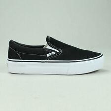 21823be094 Vans Platform Slip-On Black White Trainers Sizes UK 5