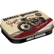 Nostalgic Art Tin Box & Mints Harley Davidson Flathead Motorcycle SMALL