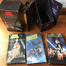Star Wars Trilogy VHS Movie Box Set Original Theatrical Releases Versions 1992