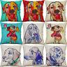 Cartoon Dog Home Decor Cotton linen Cute Dog Pillow Case Sofa Car cushion cover