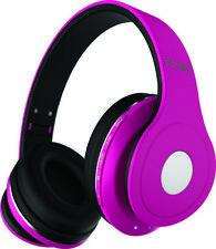 COBY CHBT-709-PK Pink Studio Bluetooth Stereo Headphones