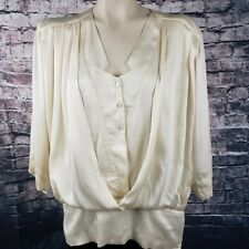 Escada Vintage West Germany Silk Blouse, Size M