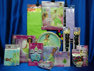 Princess & The Frog Party Set # 20 Napkins Plates  Invites Game Tiana Costume