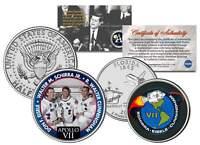 APOLLO 7 SPACE MISSION 2-Coin Set U.S. Quarter & JFK Half Dollar NASA ASTRONAUTS