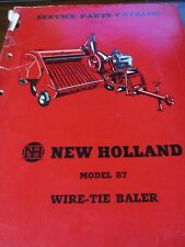 New Holland Model 87 Wire Tie Baler Parts Catalog 1955
