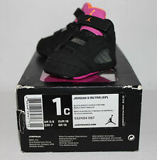 Air Jordan V 5 Floridian Black Pink Orange Sneakers Toddler's GP Size 1 1C New
