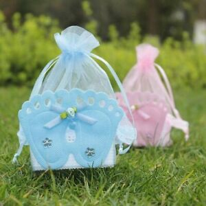 Baby Foot Candy Box Shower Sweet Bag Footprints On The Beach Gift Boxes Baptism