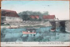 Gosen-Neu Zittau, Germany 1906 Postcard: Bridge Scene