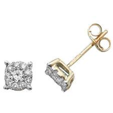 Pendientes de joyería con diamantes Mariposa oro amarillo I1