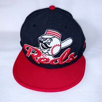 New Era Cincinnati Reds 59FIFTY Hat Cap 7 1/4 MLB Mr. Red Mascot Throwback
