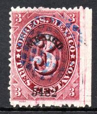 Mexico 1882 Foreign Mail Small Numeral 3¢ Carmine Lake Mexico MX50