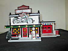 "Dept. 56 Snow Village Series ""Harley-Davidson Motorcycle Shop"" #54886"