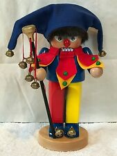 "❤️STEINBACH ~ THE Chubby JESTER NUTCRACKER ~ 11.5"" ~◈ A Fool For You ◈~ MINT❤️"