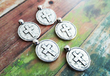 BULK Charms Cross Charms Antiqued Silver Wholesale Charms 50pcs Religious