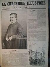 LISSAGARAY FETES SAINT-REMY-DE-PROVENCE F. MISTRAL LA CHRONIQUE ILLUSTRéE 1868