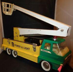 Structo Turbine Power & Light Utility Truck Hydraulic Snorkel Pressed Steel Toy