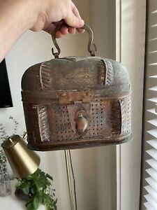 Antique Hand-Hammered Turkish Soap Box Spice Hammam or Lunchbox Copper or Tin