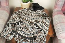 100% Woollen Poncho Warm Cardigan Hand Knitted